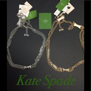 NWT KATE SPADE CLASSIC BOW CHAIN BELTS
